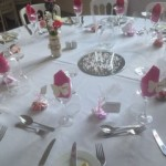 Wedding Breakfast table settings