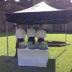 Ready to serve Wedding Reception Arrival drinks, Brancepeth Castle, Durham. August 2014