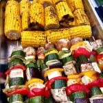 BBQ'd Corn And Vegetable Skewers